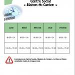 horaires d'ouverture du CS